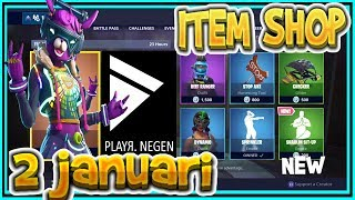 | FORTNITE UK | ITEM SHOP 2 January 2019 | * New * DJ BOP SKIN-Playr NINE – FORTNITE ENGLISH