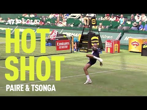 Tsonga & Paire Play FOOTBALL in Halle 🤣⚽  HOT SHOT   ATP