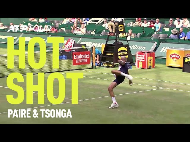 Tsonga & Paire Play FOOTBALL in Halle 🤣⚽| HOT SHOT | ATP