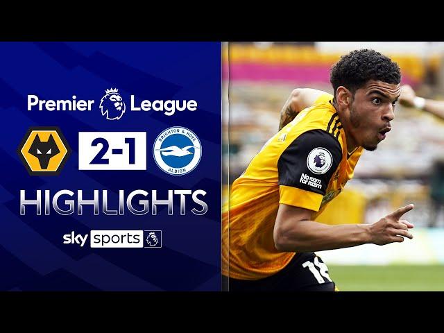 Gibbs-White scores late to sink 10-man Brighton! | Wolves 2-1 Brighton | EPL Highlights
