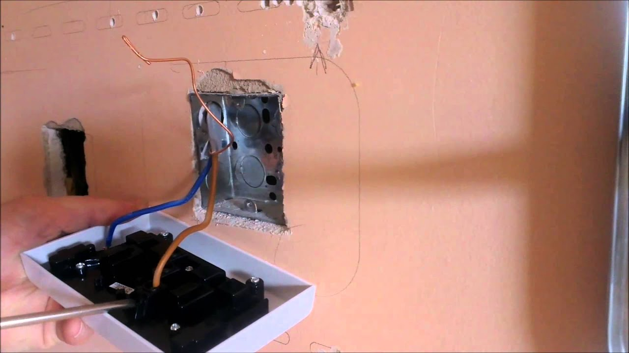 the easiest way to change a single plug socket to a double plug socket [ 1280 x 720 Pixel ]
