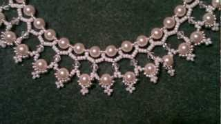 Repeat youtube video Beading4perfectionist : Swarovski 6mm pearl and 4mm bicone necklace beading tutorial