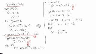 斉次線形微分方程式その2