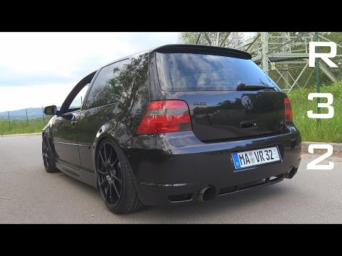VW GOLF 4 R32 STRAIGHT PIPE - ACCELERATION SOUND ONBOARD AUTOBAHN 0-200 KM/H