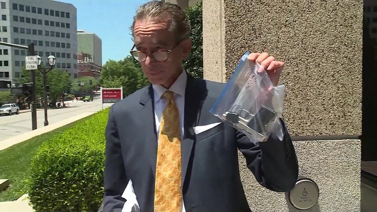 VIDEO: Lawyer for McCloskey's turns over weapons pointed at protesters
