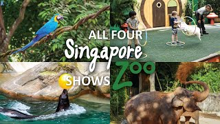 Singapore Zoo Shows 2018 - All 4 Summary Shows Back To Back