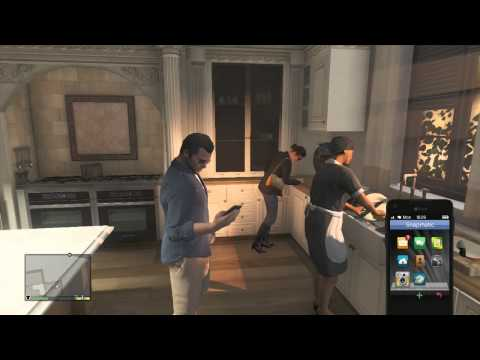Grand Theft Auto V - Michael Cheats On Amanda Movie