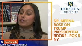 Professor Meena Bose on Trump Presidential Books