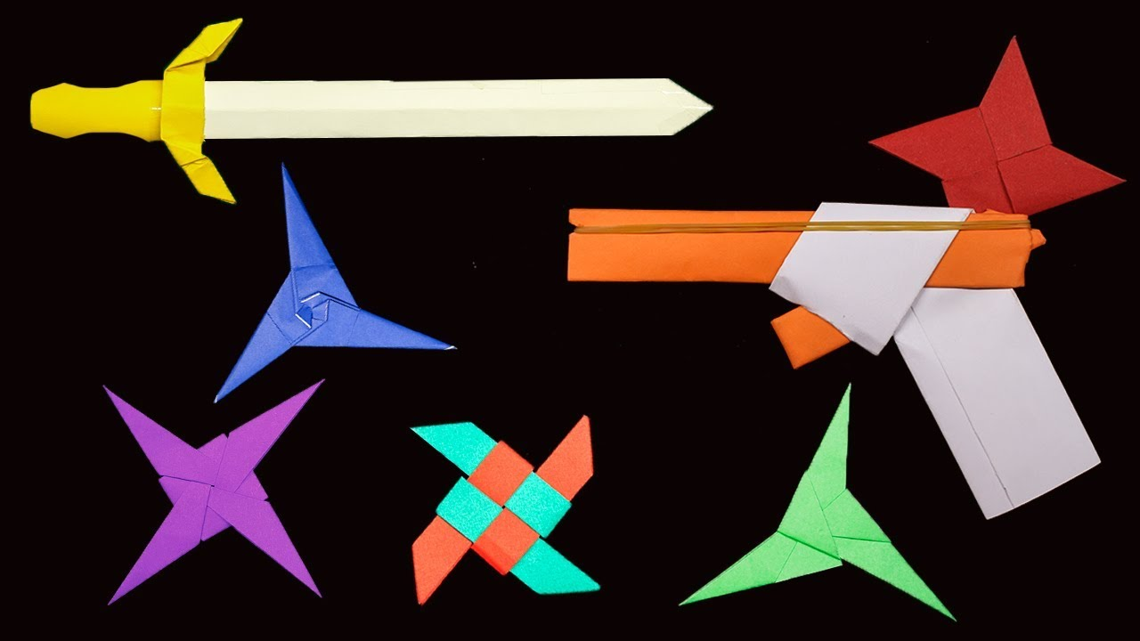 How To Make Origami Ninja Weapons How To Make Origami - Origami ... | 720x1280