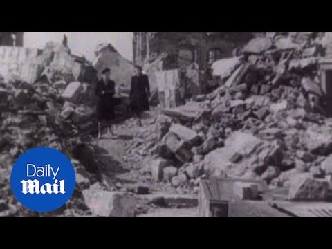 The aftermath of the 1945 bombing campaign on Dresden - Daily Mail