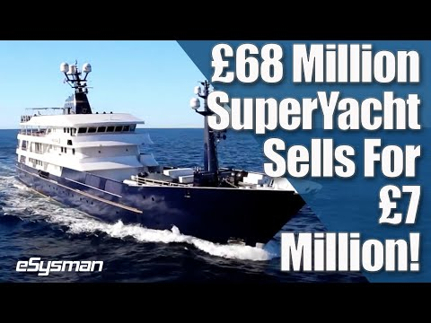 £68 Million F1 SuperYacht Sells at Auction for £7 Million!