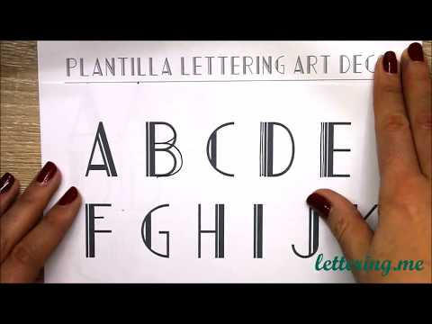 Online Lettering Classes - Lesson 6: Lettering Art Déco from YouTube · Duration:  12 minutes 32 seconds