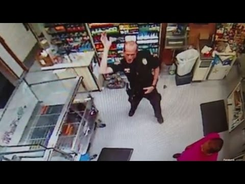 Police Officer Caught Doing 'Whip Nae Nae' Dance on Store Surveillance