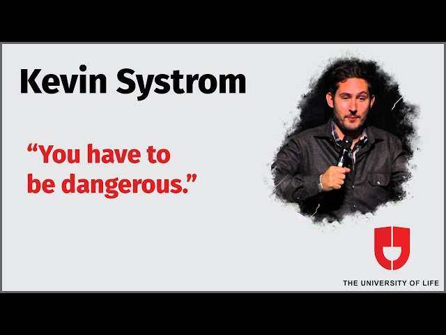Instagram Co-Founder Kevin Systrom Advice For Young Entrepreneurs—The University Of Life