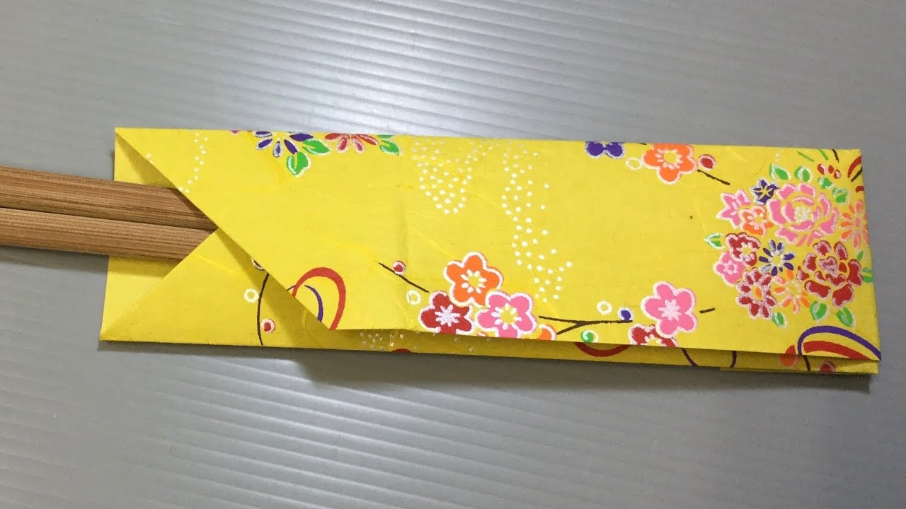 Traditional Origami Chopstick Holder Youtube