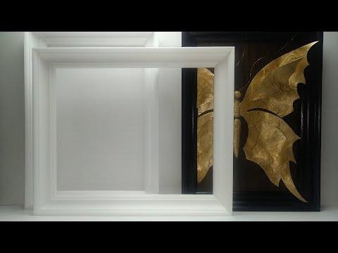Рамки из потолочных плинтусов своими руками