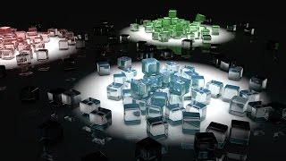 Создания Абстрактной картинки с кубов в CINEMA 4D Урок
