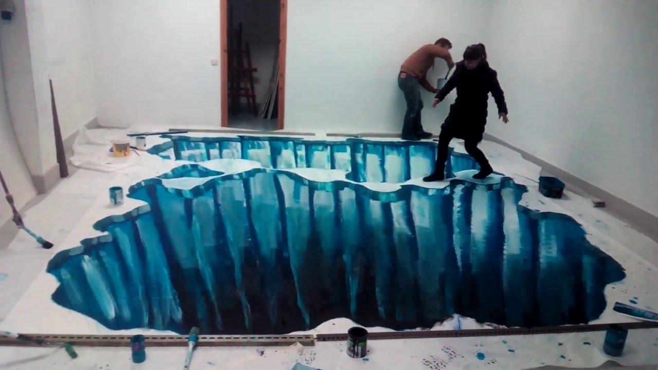 Graffiti dibujo 3d en el suelo hielo youtube for Suelos en 3d precios