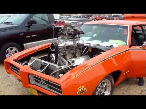 PRO STREET GTO JUDGE * BLOWER with 2-4's ON A TUNNEL RAM * CRAZY SICK RIDE