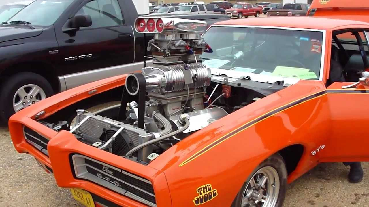 Pro Street Gto Judge Blower With 2 4 S On A Tunnel Ram