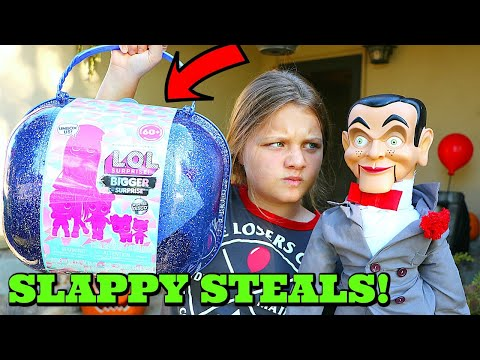 Slappy Steals LOL Surprise Winter Disco Bigger Surprise! Slappy Is Back! Goosebumps In Real Life!