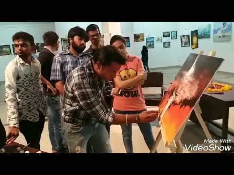 Abstract Painting / LIVE demo at Lalitkala Academy Gujarat / Group Show