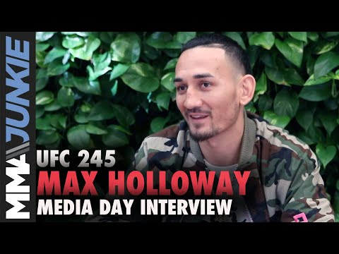 UFC 245: Max Holloway Full Media Day Scrum In Los Angeles