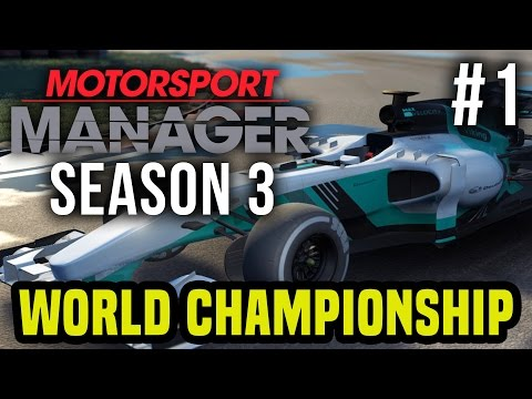 Motorsport Manager Season 3 Gameplay Walkthrough - LIVE - Wo