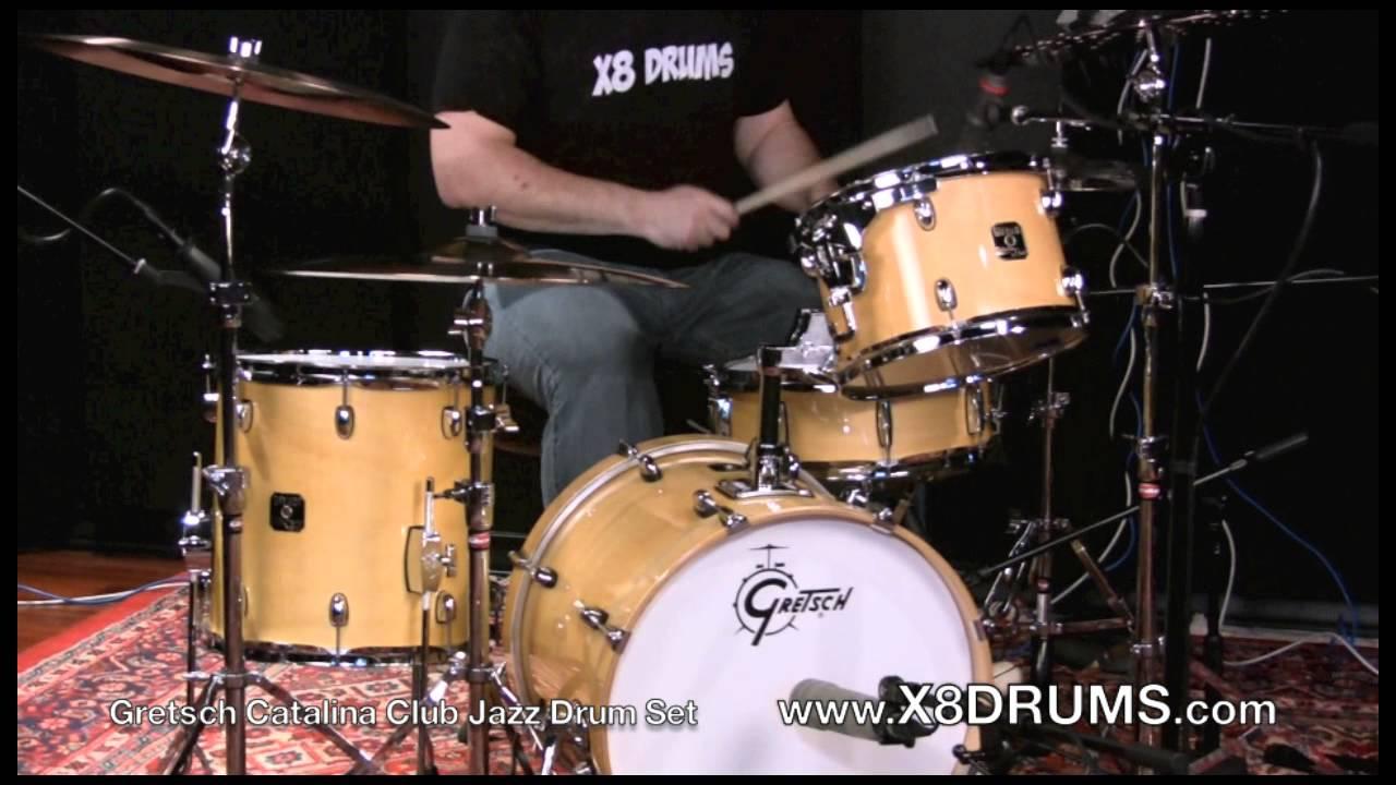 Gretsch Catalina Club Jazz Drum Set Demonstration X8