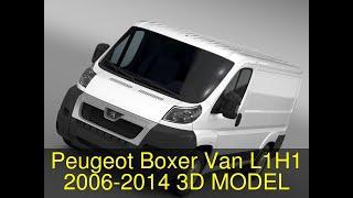 3D Model of Peugeot Boxer Van L1H1 2006-2014 Review