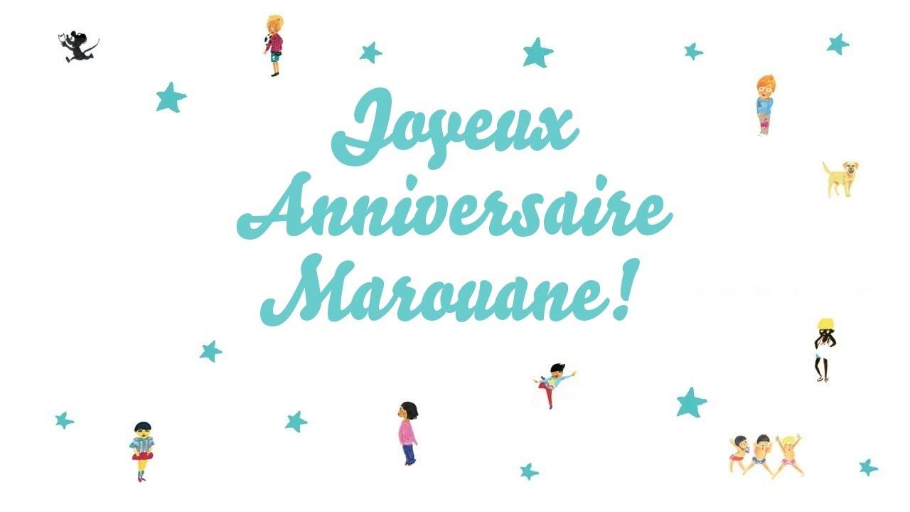 Joyeux Anniversaire Marouane