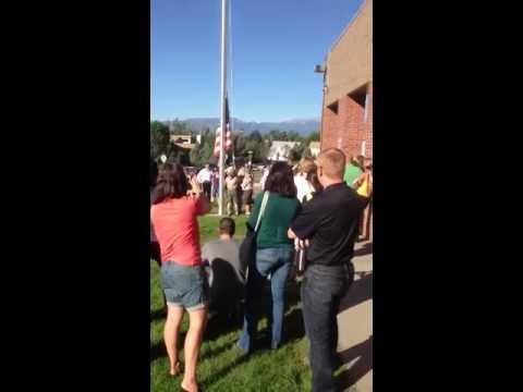 Ian Raising The Flag!