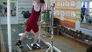 Пряничников Максим, 11 лет, вк 62 Толчок с плинта 42 кг