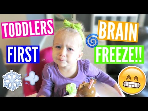 TODDLERS FIRST BRAIN FREEZE!!