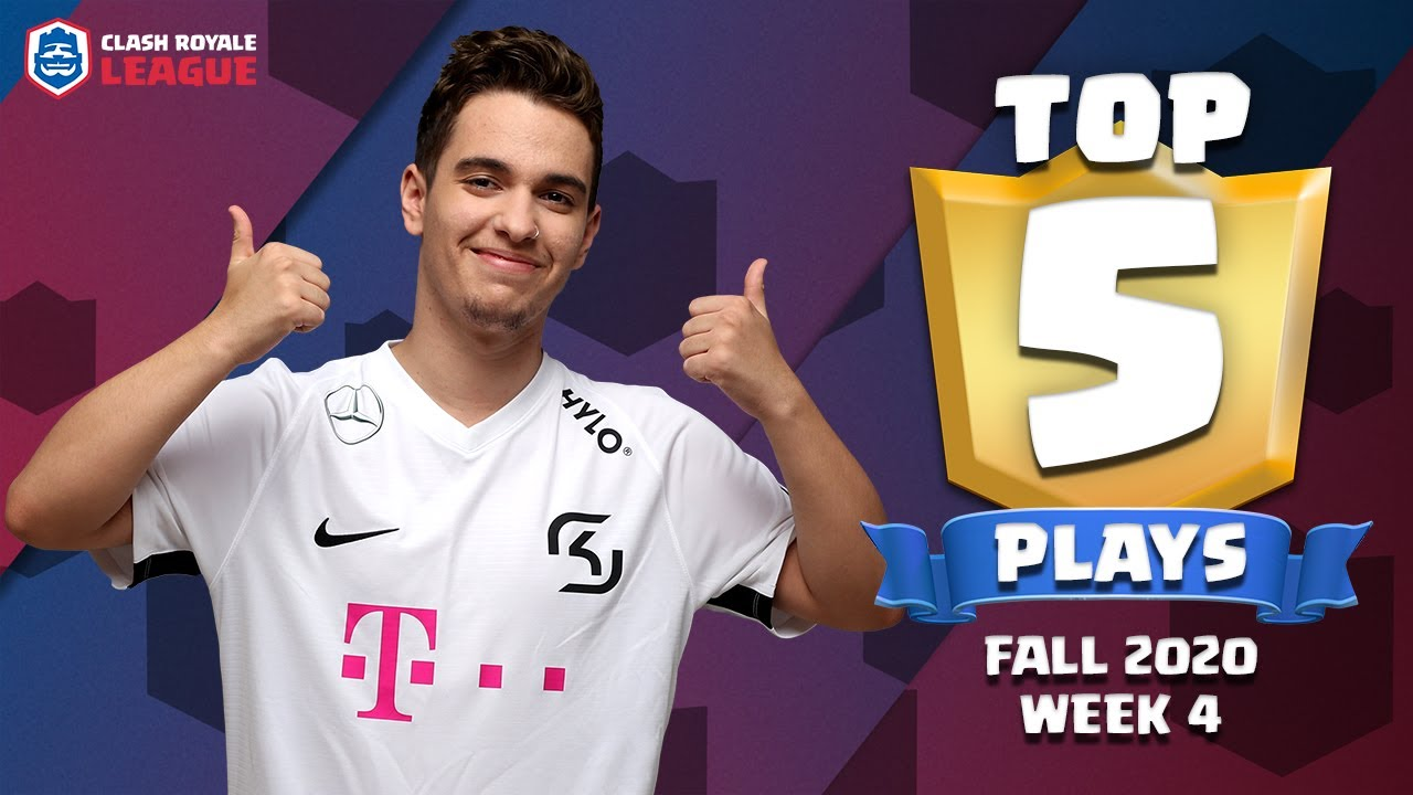 Top 5 Plays of CRL West 2020 Fall - Week 4   Clash Royale League