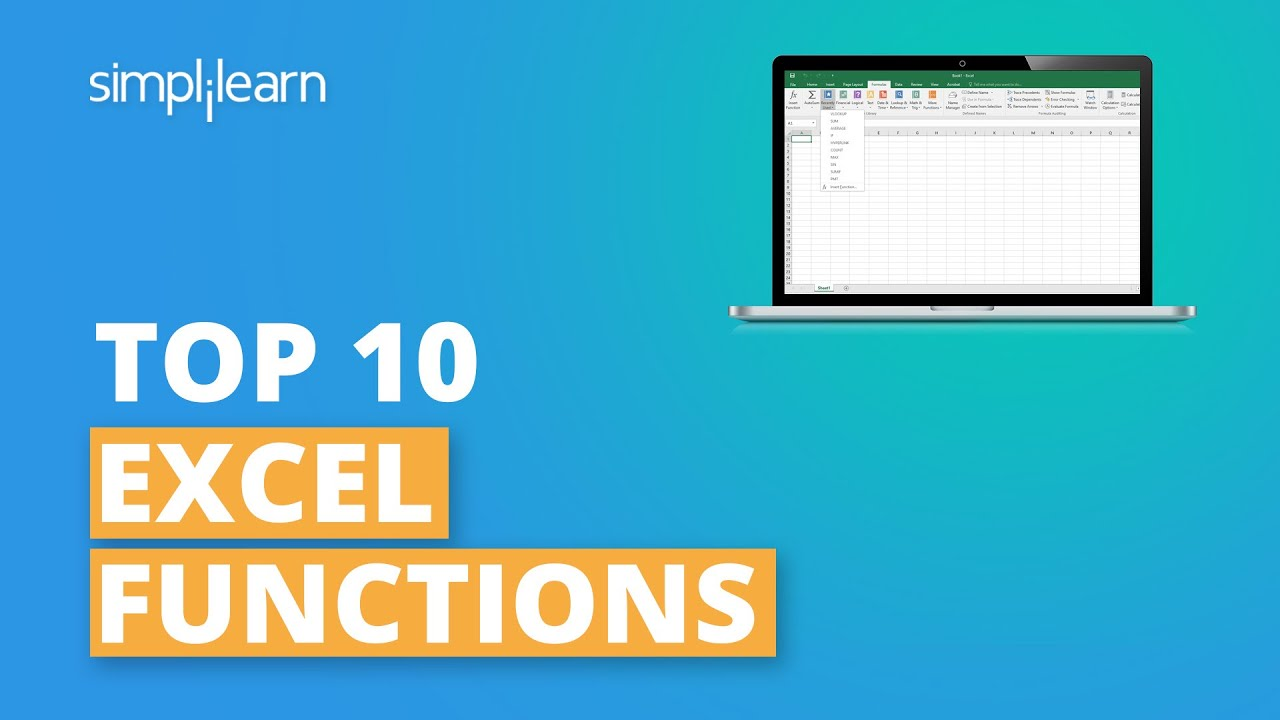 Top 10 Excel Functions   Most Important Excel Functions   Excel Functions List