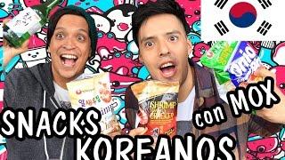 PROBANDO DULCES KOREANOS! ft. MOX - KPOPERS! │ @brunoacme