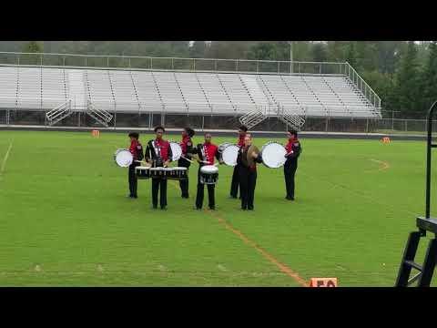 Walkertown Drumline feature at WSFCS Jamboree September 24, 2018