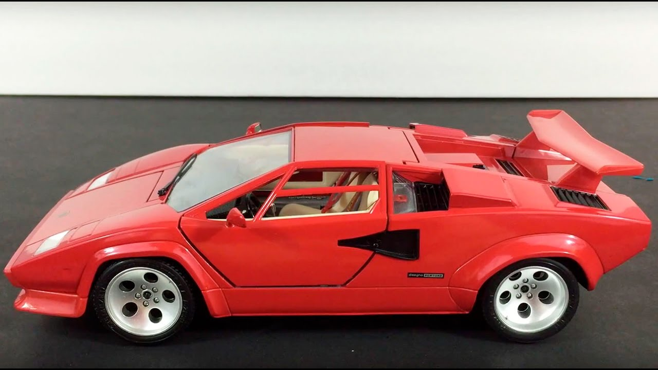 1988 Lamborghini Countach Burago 1 18 Model Unboxing Youtube