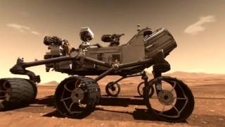 Компьютерная модуляция посадки Кьюриосити на Марс
