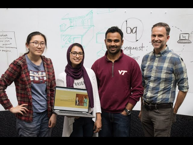 Virginia Tech students design web-based service to help isolated senior citizens
