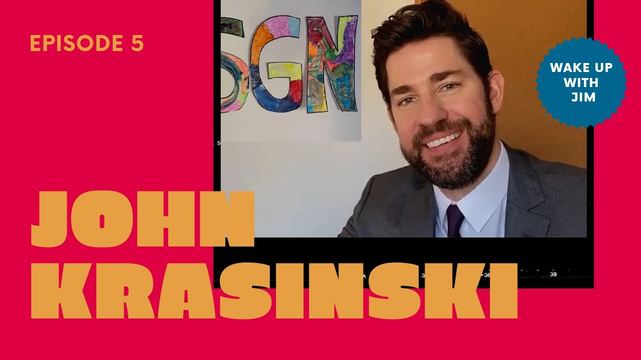 Interview with John Krasinski  #somegoodnews