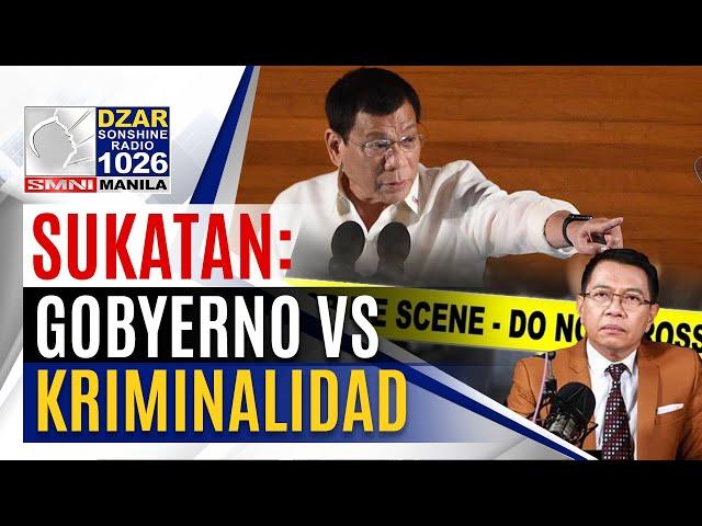 Sukatan with Mike Abe: Laban kontra kriminalidad sa Pilipinas