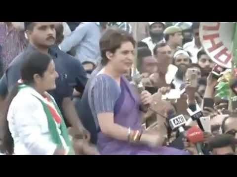 Smt. Priyanka Gandhi Vadra addresses a rally in Ghaziabad, Uttar Pradesh