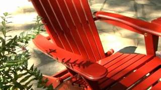 Big Daddy Adirondack Chair With Pull Out Ottoman Red - Product Review Video