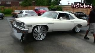 "1975 Buick LeSabre Vert on 28"" Forgiatos, 421 Stroker LSX Engine - 1080p HD"