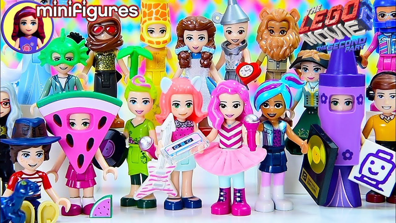 Lego Movie 2 Minifigures Complete Set Dress Up With Disney Princesses And Lego Friends Youtube