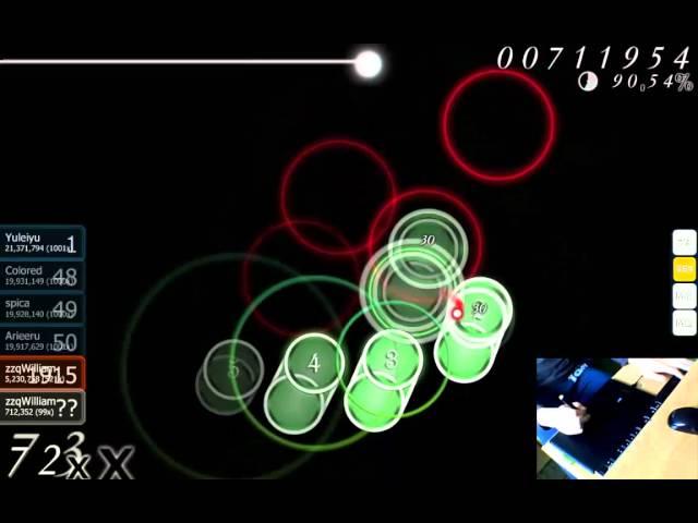 Osu! Livegameplay - otetsu - Sai afure, Ketsurakusha [Insane]