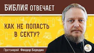 Как не попасть в секту?  Библия отвечает. Протоиерей Феодор Бородин