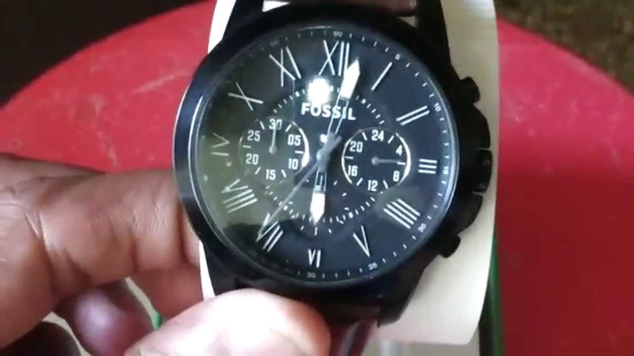 Connu Fossil FS 4885 - YouTube EJ03